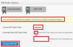 all-in-one-wp-security-db-prefix-300x195 آموزش امنیت وردپرس - جلسه پنجم پایگاه داده