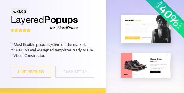 افزونه پاپ آپ حرفه ای وردپرس Layered Popups نسخه ۶٫۰۵