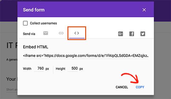 copyembedcode4-mabnawp آموزش وردپرس طراحی فرم در وردپرس با استفاده از Google Forms