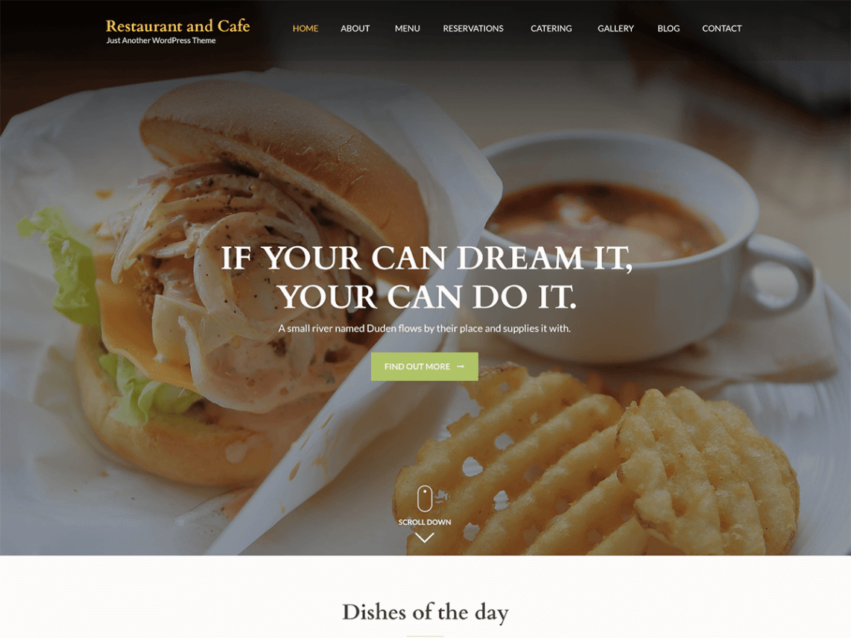 قالب Restaurant Cafe