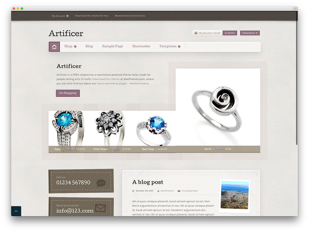 Artificer-free-ecommerce-theme1