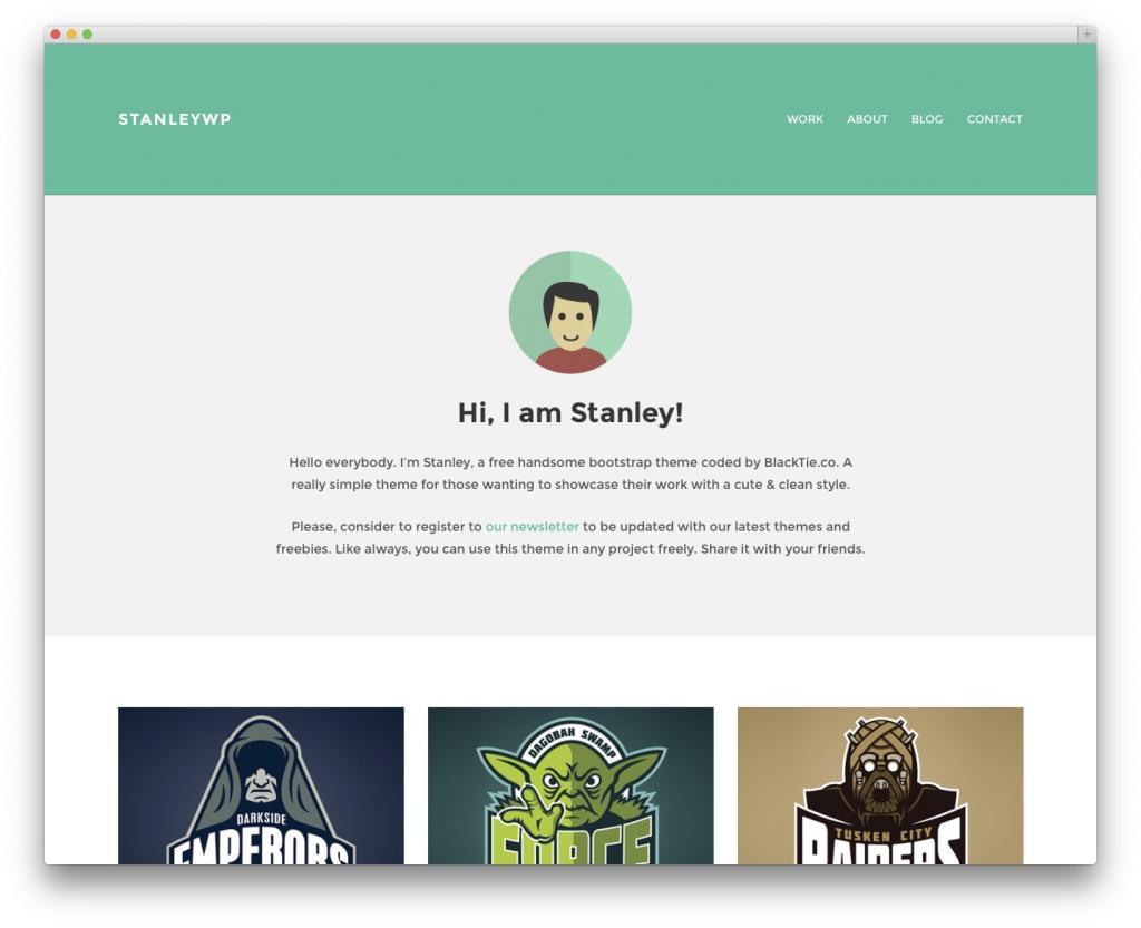 StanleyWP-blog-portfolio-1024x833 دانلود قالب شخصی وردپرس با نام StanleyWP