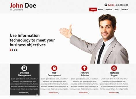 پوسته طراحی سایت و آی تی وردپرس  IT Consultant Lite
