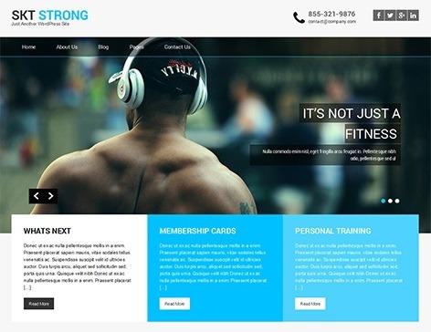 قالب شرکتی وردپرس SKT Strong