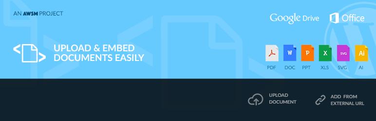 افزونه Embed Any Document ساخت پیش نمایش انواع فایل در وردپرس