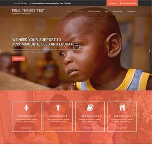 پوسته حمایت و نیکو کاری وردپرس Charity