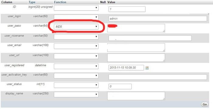 change-password-wordpress-database آموزش تغییر رمز وردپرس از هاست و دیتابیس