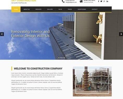 قالب شرکتی وردپرس مناسب برای ساخت و ساز