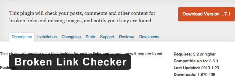 سئوی وردپرس با افزونه ی Broken Link Checker
