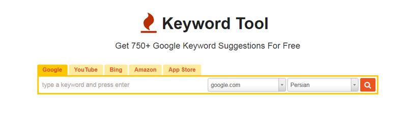 سئوی وردپرس با سایت KeywordTool.io