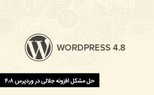 حل مشکل فایل css افزونه جلالی وردپرس فارسی در نگارش ۴٫۸