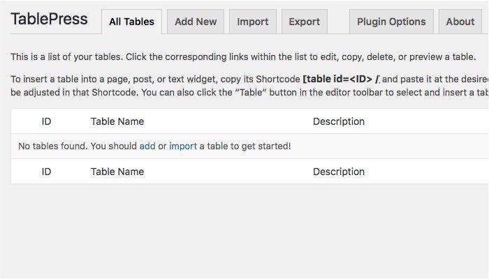 TablePress-mte-Tabs آموزش وردپرس چگونه یک جدول زیبا در وردپرس ایجاد کنیم