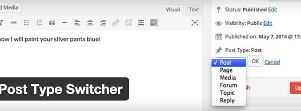 افزونه وردپرس برای تبدیل نوشته به پست تایپ سفارشی