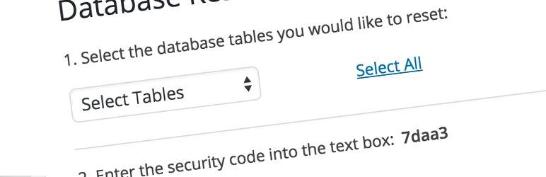 افزونه WordPress database reset ریست دیتابیس وردپرس