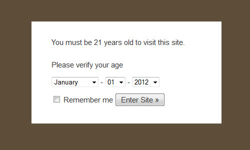 age-verify دسترسی به سایت برای افراد با سن مشخص