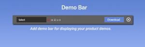 افزونه Demo Bar