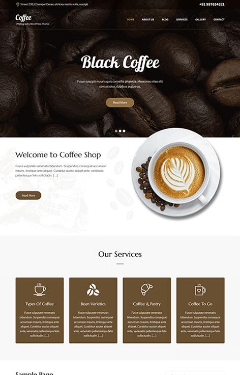 قالب وردپرس برای کافه