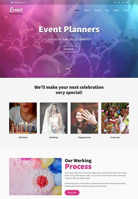 قالب وردپرس رویداد Event Planners