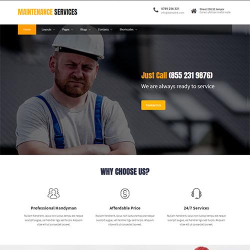 قالب خدماتی وردپرس Maintenance Services