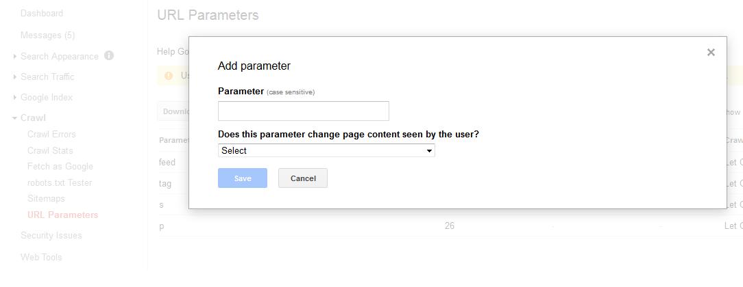 تنظیمات گوگل وبمستر جدید
