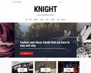 قالب وبلاگی Knight