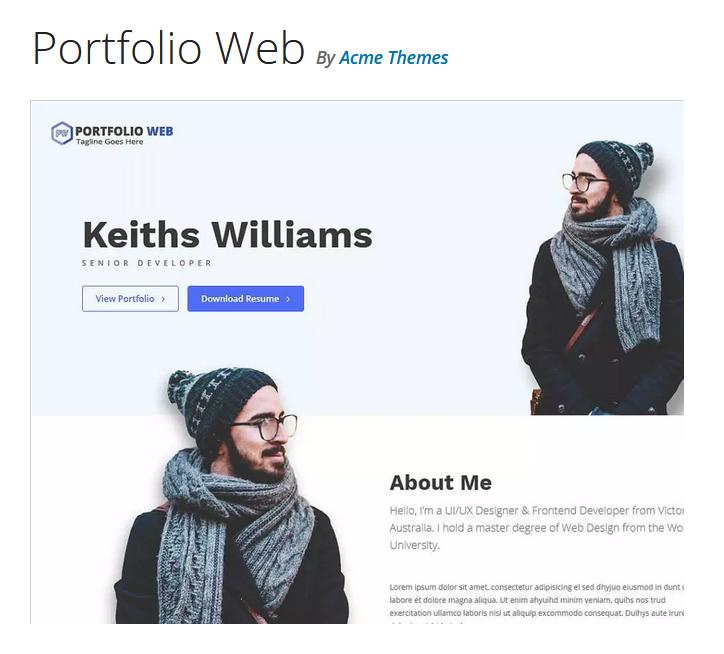 قالب شرکتی Portfolio Web