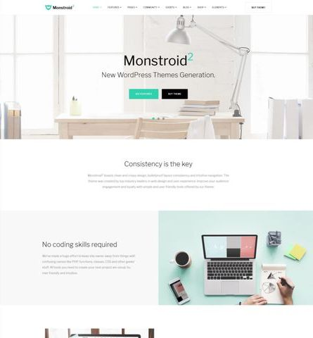 قالب شرکتی وردپرس Monstroid2