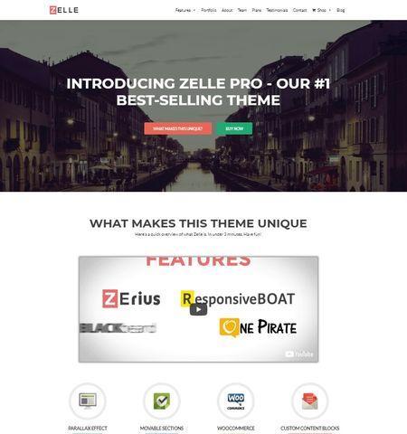 قالب شرکتی وردپرس Zelle Pro