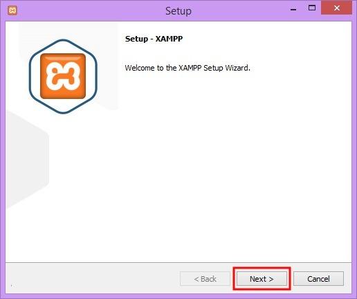 نصب برنامه Xampp