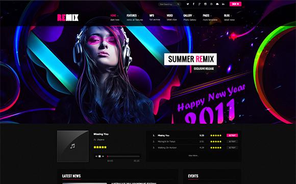 قالب موزیک وردپرس Remix (ریمیکس)