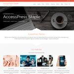قالب شرکتی وردپرس AccessPress Staple فارسی