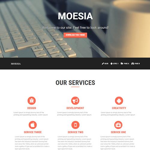 قالب شرکتی وردپرس Moesia فارسی