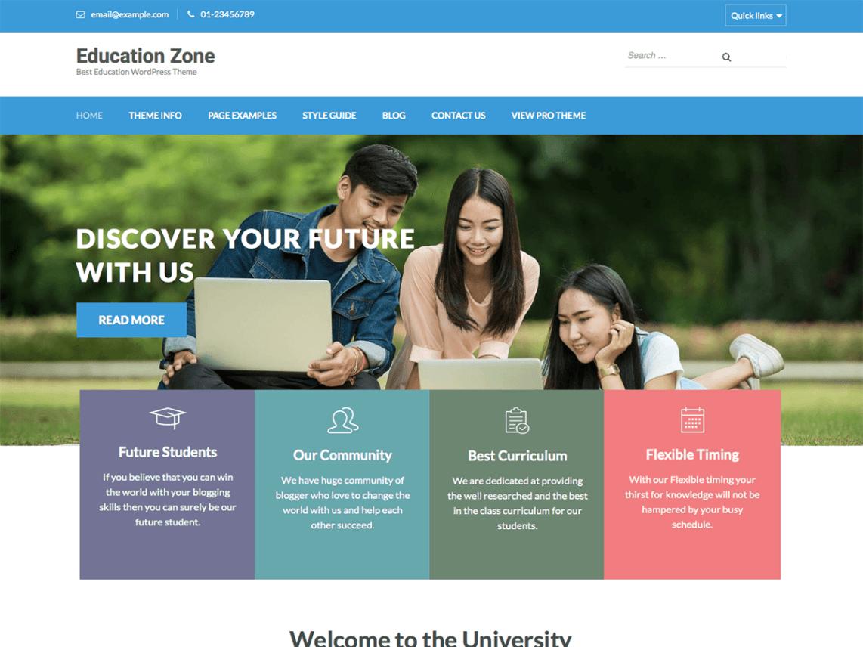 قالب شرکتی وردپرس Education Zone مخصوص مراکز آموزشی
