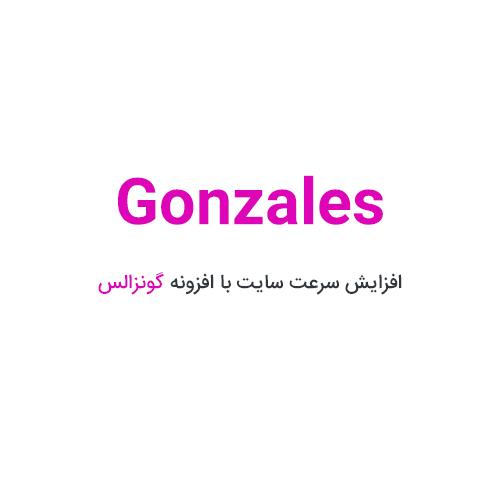 افزونه Gonzales گونزالس افزایش سرعت سایت